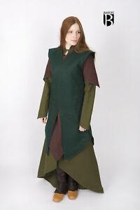 Medieval Tunic Women Wool Elf Warrior /Larp - Green By Burgschneider