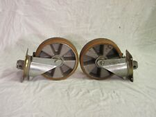"""Used pair of heavy duty 8"""" swivel casters"""