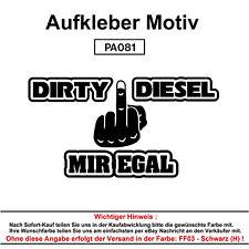 DIRTY DIESEL - Autoaufkleber Aufkleber Fun Spaß Sticker Tuning Lustige Sprüche
