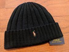 Polo Ralph Lauren Winter Cuffed Wool Ribbed Signature Small Logo Beanie PP0054