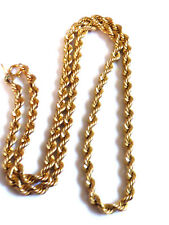 """Solid 585 / 14k Yellow Gold 4mm 22g twist Rope style link Chain Necklace 17.75""""L"""