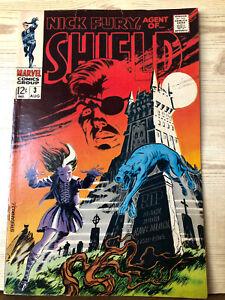 Nick Fury Agent of Shield #3 (Aug 1968, Marvel) Good / Very Good 3.5
