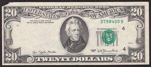 $20 Twenty Dollar 1977 Offset Printing Error Partial Bank Seal FR 2072