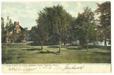Log Cabin Lake Palmer Park Detroit MI Michigan  Postcard