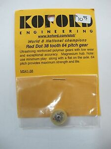 NEW 1/24 Scale Slot Car Koford Red Dot 38 tooth 64 pitch gear #M541-38 $10.95 EA