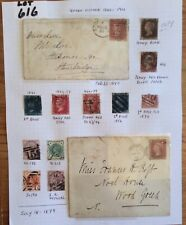 GB Queen Victoria 11 Stamps 2 Covers On A Album Page High Catalogue (Lot 616)