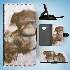 SAMSUNG GALAXY NOTE 9 FLIP CASE WALLET COVER|SCHNAUZER DOG 2