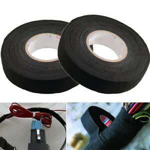 Black Car Auto Adhesive Electrical Cloth Tape For Cable Loom Wiring Harness Wrap