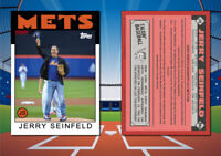 1986 Topps Style JERRY SEINFELD First Pitch Custom New York Mets Baseball Card