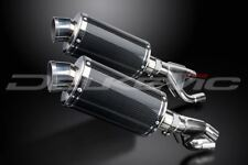 """Delkevic 9"""" Carbon Oval Slip On Mufflers -  Yamaha Vmax 1984-2007 Exhaust"""