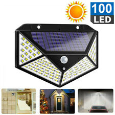 Solar Sensor Wall Light 100 LED Motion Lights Outdoor Security Home Lamp