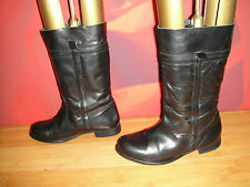 REDHERRING GIRLS JUST WANNA HAVE FUN BLACK LEATHER RIDING STYLE  BOOTS UK 4 *54*