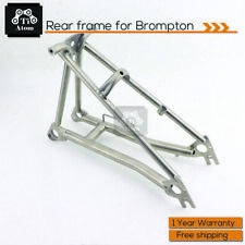 Ti Atom /Titanium Rear Triangle/Frame for Brompton Folding Bike Polished/Matte