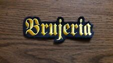 BRUJERIA,SEW ON GOLDEN EMBROIDERED PATCH