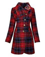 Joe Browns Sensational Red Check Coat Size 22 BNWT