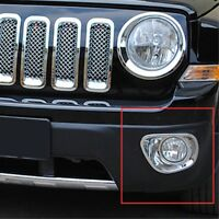 For Jeep Patriot 2011 2012 2013 ABS Chrome Front Fog Light Lamp Frame Cover Trim