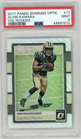 2017 Panini Donruss Optic 'The Rookies' #17 Alvin Kamara Rookie PSA MINT 9