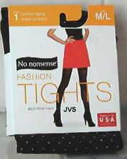 "No Nonsense Fashion Tights BLACK PIN DOT M/L 5'2"" To 6' Weighing 145lb To 210lb"