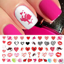 Valentines Day Heart Assortment #2 Nail Art Waterslide Decals - Salon Quality!