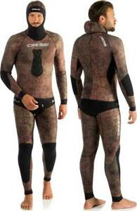 Wetsuit CRESSI SUB Camouflage Grouper 7mm for Fishing IN Apnea Camo Wetsuit