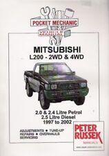 1997 - 2002 Mitsubishi L200 2WD 4WD Pocket Mechanic Russek Repair Manual 051X