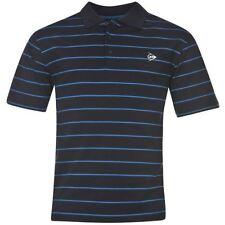 Camicie casual e maglie da uomo a manica corta blu a righe