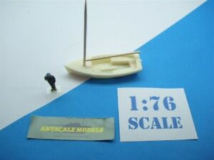 OO/4mm Model Railway Waterline small sail boat with mast. (20S342)