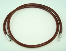 """17"""" Brown Surfer 4mm Round Leather Choker Necklace Cool Men's"""