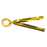 50 Gold Metallic Twist Ties 10cm 4 inch For Cake Pops lollipops Cello Bags