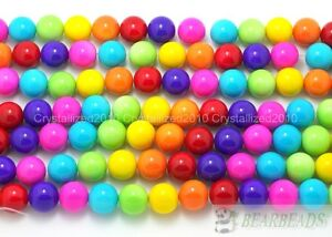 """Mixed Czech Opaque Coated Glass Pearl Round Beads 6mm 8mm 10mm 12mm 14mm 16"""""""