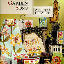 GARDEN SONG Nancy Halvorsen Quilt Applique NEW BOOK Art to Heart Spring Design