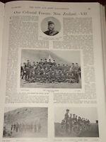 1899 BOER WAR NEW ZEALAND ARMY ASHBURTON RIFLES ETC