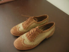 Gianni Bini Two tone Oxfords Beige Studded 8M  Womens Lace up shoes