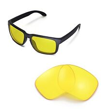New Walleva Yellow Replacement Lenses For Oakley Holbrook Sunglasses