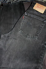 Levis 551 Black Jeans 12 Med Relaxed Fit Tapered Leg 100% Cotton Made In USA