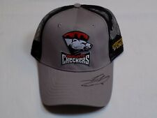 Charlotte Checkers Hockey AHL SIGNED Julien Gauthier Grey Black Trucker Mesh Hat