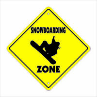 Snowboarding Crossing Decal Zone Xing sport skiing mountain snowboarder snow