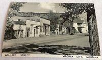 Wallace Street Virginia City Montana Real Photo Postcard Street View
