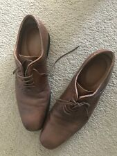 Mens formal tan leather UK 8 shoes