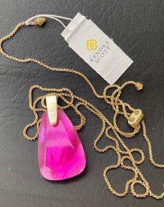 New Kendra Scott Maeve Azalea Pink Pendant Necklace $80.00