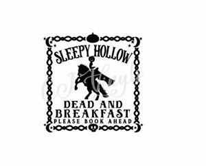 Sleepy Hollow Vinyl Decal Sticker Halloween Spooky Box Frame Bottle Wooden Board