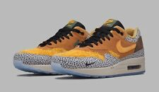 NIKE AIR MAX 1 PREMIUM QS SAFARI 9.5 665873-200 NIB NEW Atmos Supreme AM 98 OG