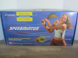 NEW Speedminton Badminton Set Two Rackets Case Speedlights Speeders