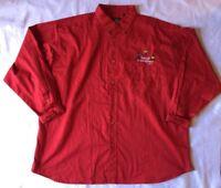 Teacher 4XL Shirts Red Womens Button Down Collar Plus Size Kids Daycare School