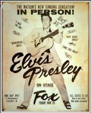 Elvis Presley: At The Fox: Tin Sign