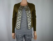 New J Crew J.Crew Green Cardigan Beads Size S