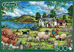Falcon Deluxe Highland Farm Jigsaw Puzzle (500 Pieces)