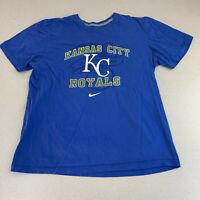 Nike Kansas City Royals T-shirt Mens XL Blue Short Sleeve Casual
