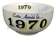 Bol année de naissance 1970 en grès - idée cadeau anniversaire neuf