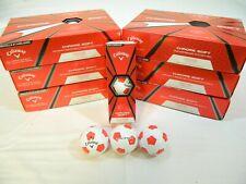 6 Dozen New Callaway Chrome Soft Golf Balls Truvis Red 72 Balls - 6Dz